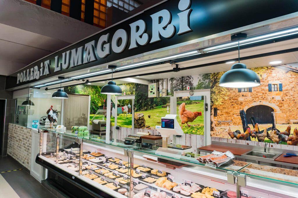 Pollería Lumagorri en el Mercado de Labayru, Bilbao