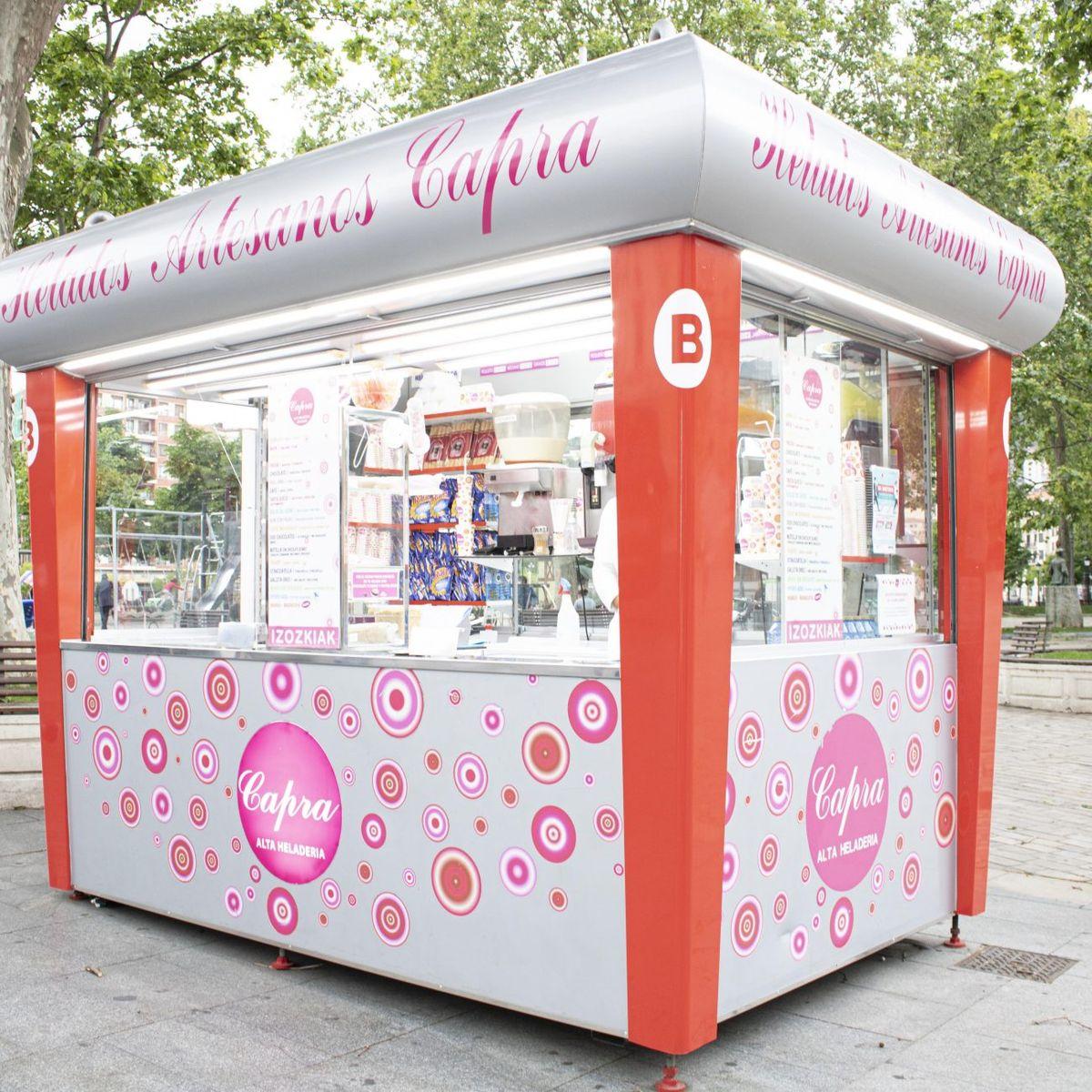 Capra, puestos de helados en pleno Bilbao