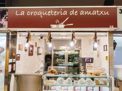 La croquería de amatxu, croquetas caseras en el Mercado de Labayru, Bilbao