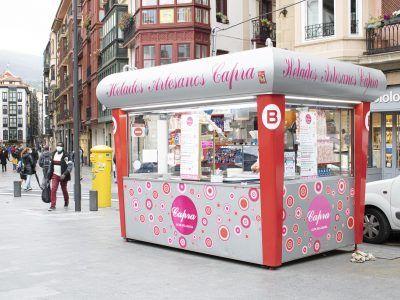 Capra, helados en pleno Bilbao