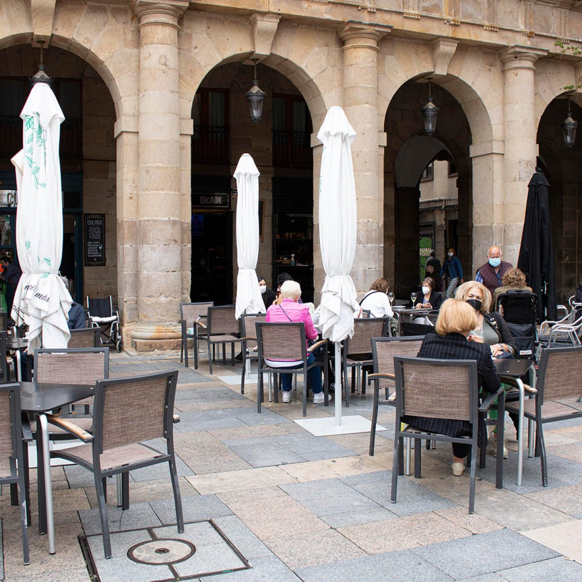 Bar Ekain, pintxos en la Plaza Nueva de Bilbao