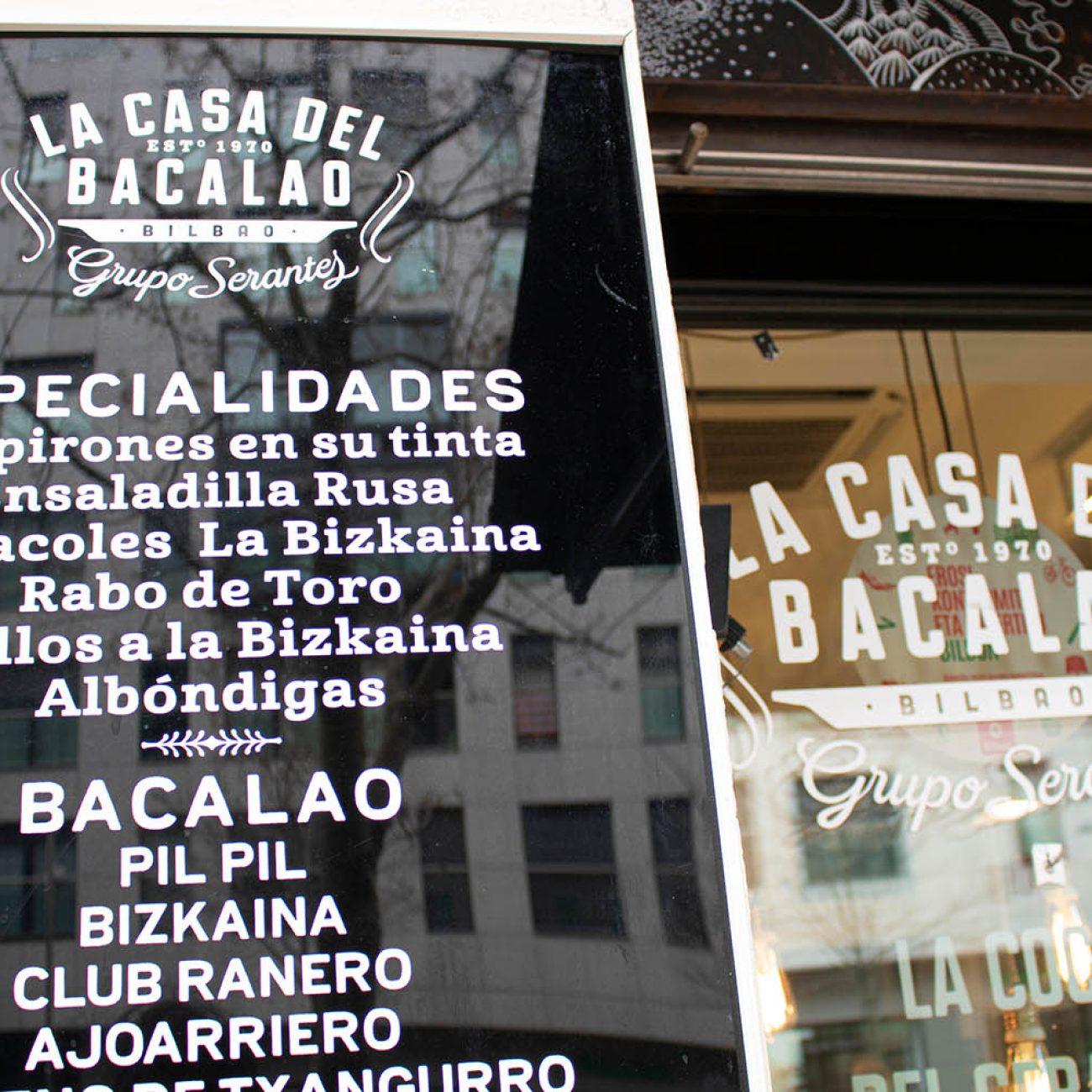 La casa del bacalao, comida preparada para llevar en Bilbao